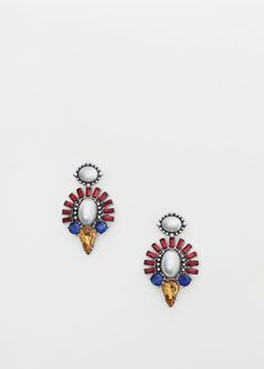 Faceted crystal earring