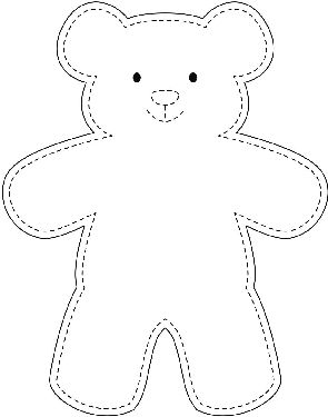 graphic regarding Teddy Bear Template Printable known as Generate an Straightforward Teddy Undergo teddy bears Teddy undertake template