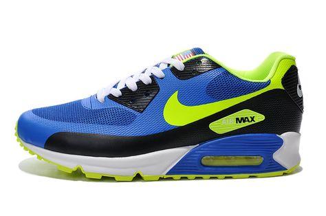 Men s Sneakers Nike Air Max 90 Hyp Prm blue   yellow   black Cheap Price USA  Sale Contact  topshoesale foxmail.com c67de597c7d