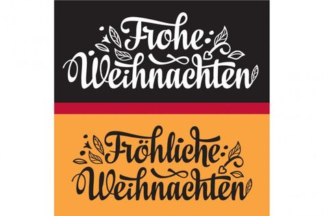 Frohe Weihnacht. Congratulations in German language. Christmas in ...