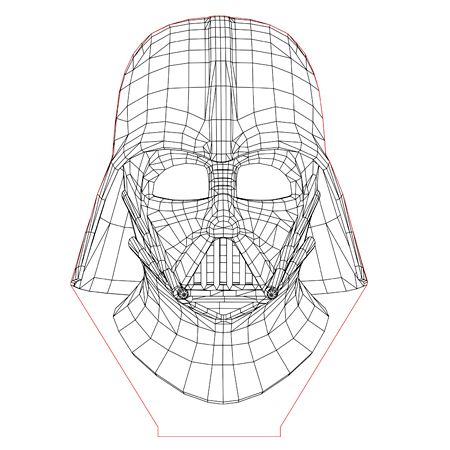 Darth Vader Set 3d Illusion Lamp Plan Vector File For Laser And Cnc 3bee Studio 3d Illusion Lamp 3d Illusions Illusions