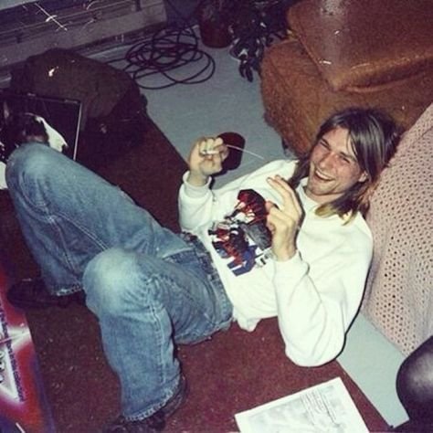 Kurt laughing