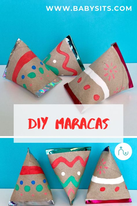 Music can transport children to a new world, make them dance and smile. So, here are some steps you can take to make these DIY homemade maracas with your kids. Now, you and the children will always be ready to play along when you feel the rhythm! Preschool Crafts, Diy Crafts For Kids, Arts And Crafts, Paper Crafts, Toddler Crafts, Maracas Craft, Instrument Craft, Homemade Musical Instruments, Music Instruments
