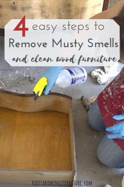 4 Steps To Get Rid Of That Musty Smell Roots Wings Furniture Llc Antiquing Furniture Diy Cleaning Wood Furniture Cleaning Wood
