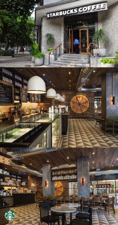 1e86b3a4056 This Starbucks store located at the La Vien Hotel in central Hanoi used  natural stone and teak wood to create a contemporary, calm and refined feel.