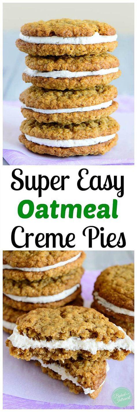 Oatmeal Creme Pie - Super simple oatmeal creme pie recipe that taste just like a Little Debbie!