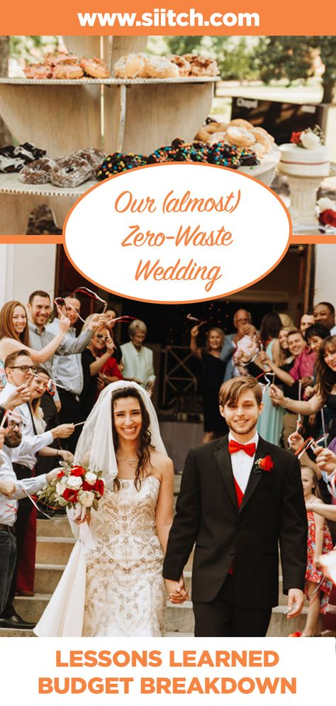 Waste Warrior Isabel shares her budget and lessons learned from her almost zero-waste wedding. #wedding #zerowastewedding #ecofriendlywedding #zerowaste #greenwedding