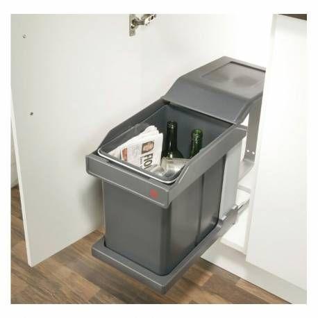 Poubelle Sous Evier Ouverture Automatique Kitchen Cabinet Storage Kitchen Bin Cabinet Design