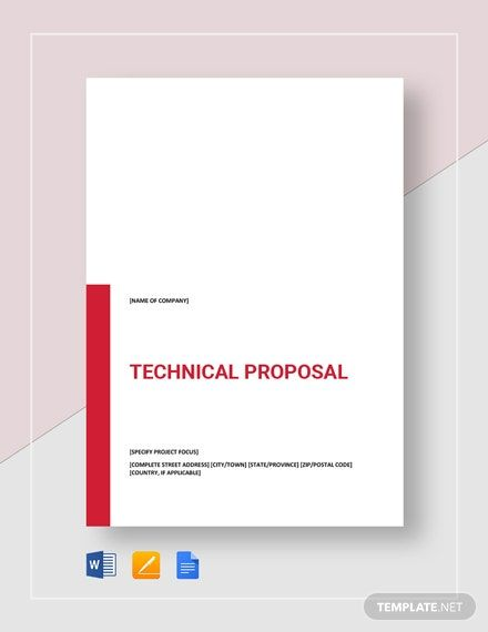 Technical Proposal Template Free Pdf Word Apple Pages Google Docs Technical Proposal Proposal Templates Business Proposal Template - ms word proposal template