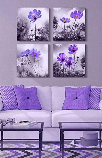 Purple Wall Decor Living Room 24 Ideas Bedroom Purple Lavender Living Rooms Bedroom Purple Wall Decor Violet Wall Art Purple Home Decor