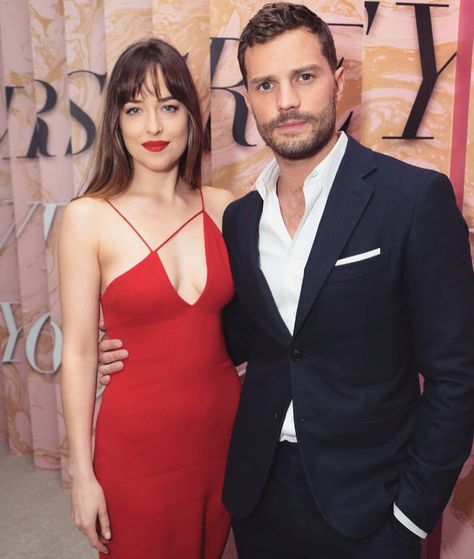 Jamie Dornan and Dakota Johnson at the 'Fifty Shades Freed' Premiere in Los Angeles February 2018