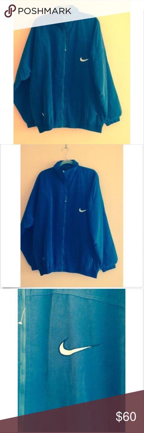 Nike Premier Faux Suedenavybluezipfrontjacket Sz L Navy Blue Jacket Vintage Nike Suede Material