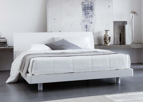 Bedroom Simple White Bed Frame Perfect With The Feature Wall And