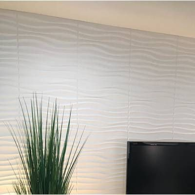 Yacoubou 19 7 X 19 7 Vinyl Wall Paneling In White Vinyl Wall Panels Wall Paneling Wood Panel Walls