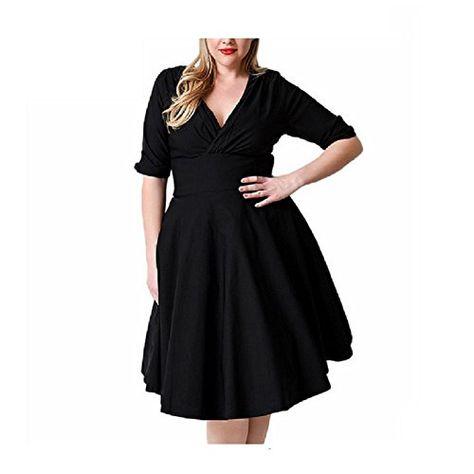 Fashion Bug Women Plus Size Sleeveless 1950s Vintage Style ...