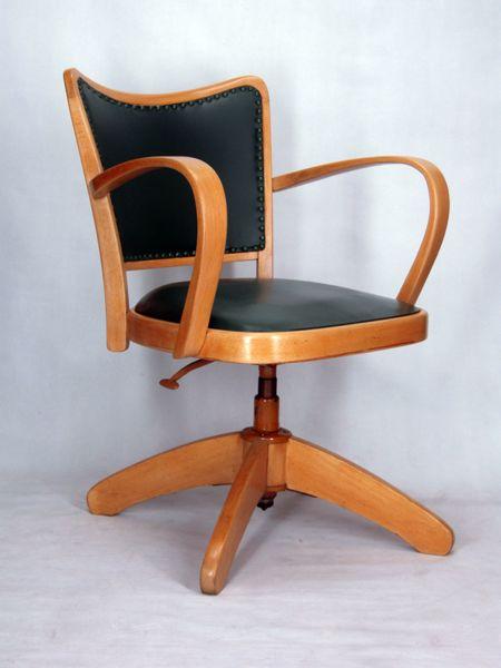 Chaise De Bureau Vintage Chaise A Accoudoirs Fauteuil Bureau Tournant 1950 Vintage Chair Office Chair Trees To Plant