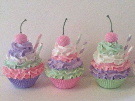 fake food decoration prop home deco item Shabby Chic Cupcake Faux Cupcake