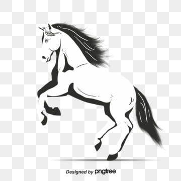 تشغيل الخيول بالأبيض والأسود حصان المرسومة أبيض وأسود حيوان تصوير الحيوانات Png وملف Psd للتحميل مجانا In 2021 Animal Illustration Black And White Cartoon Horse Illustration