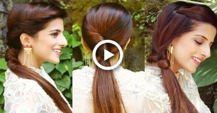 3 Cute And Easy Ponytail Hairstyles For School College College Cute Easy Hairstyles Ponytail School In 2020 Ponytail Hairstyles Easy Cute Easy Ponytails