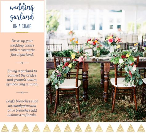 15 Ways to Hang A Wedding Garland You Wish You Thought Of
