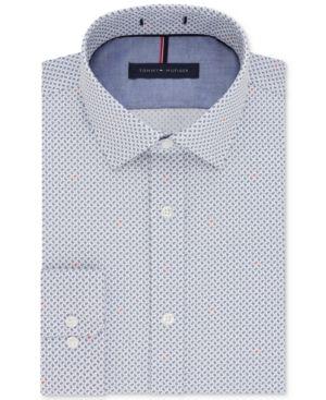 Tommy Hilfiger Slim Fit Heritage Oxford Dress Shirt 17.5 2 3
