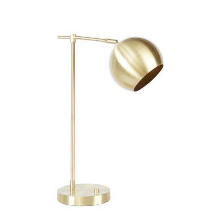 Better Homes Gardens Orb Desk Lamp Gold Walmart Com Desk Lamp Lamp Metal Desk Lamps