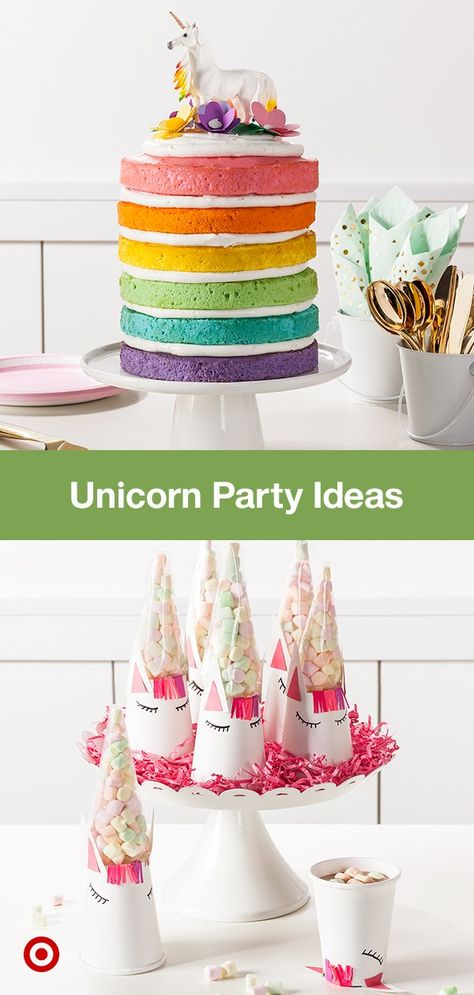 Bring The Magic Of Rainbows To Their Unicorn Theme Birthday Party With Decor Cake Ideas More
