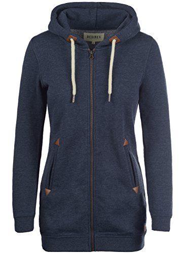 Shop für echte Neuankömmling neu kaufen DESIRES Vicky Straight-Zip Damen Sweatjacke Kapuzen-Jacke ...