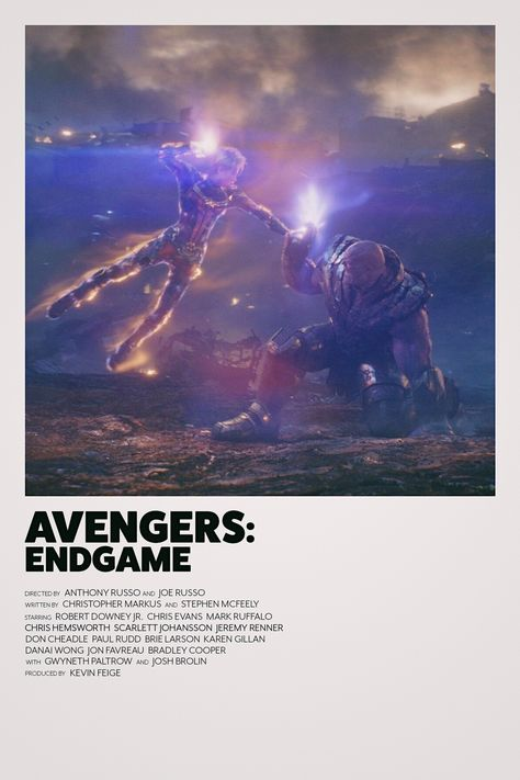 Avengers: Endgame minimalist movie poster