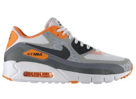 Nike Air Max 90 Breathe White Black Wolf Grey Orange