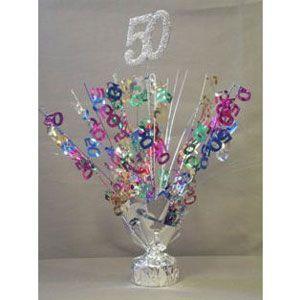 "2 Metallic Multicolor 75th Anniversary or Birthday Balloon Weights 15/"" Tall"