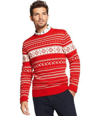 Tommy Hilfiger Sweater, Barrginton Fair Isle Sweater - Sweaters ...