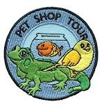 Pet Shop Tour Fun Patch from MakingFriends.com. A great accompaniment when earning your Pets Brownie Badge