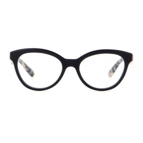fa0e96a91b7 Prada Cat-Eye Optical Glasses ( 225) ❤ liked on Polyvore featuring  accessories