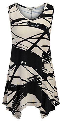bfbc446e Chic Nandashe Womens Summer Floral Tunic Tank Tops Casual Loose Sleeveless  Dressy Blouses Women fashion Tops. [$15.99 - 25.99] allfashiondress from top  ...
