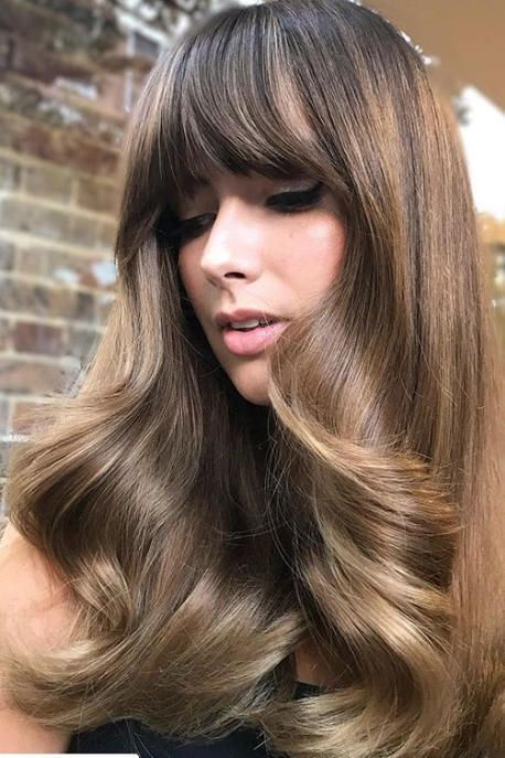 16 Haircuts That Are Going To Be So Popular In 2019 Long Hair With Bangs Brushed Out Curls Hairstyles With Bangs