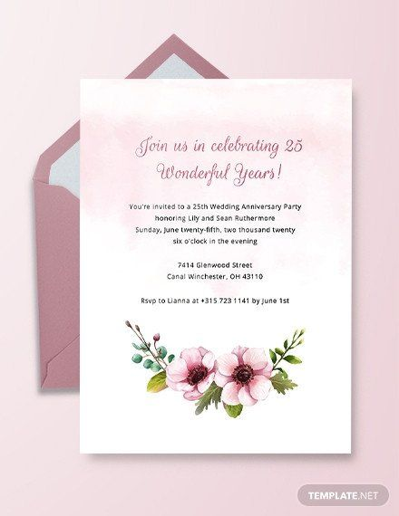Wedding Anniversary Invitation Templates Awesome 1st Anniversa In 2020 50th Anniversary Invitations 25th Wedding Anniversary Invitations Wedding Invitation Card Design