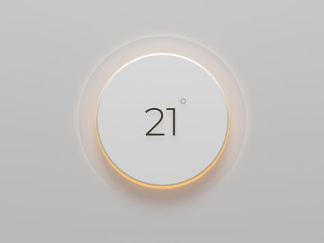 Thermostat designed by Edvinas Narbutas. Connect with them on Dribbble; the global community for designers and creative professionals. Ios 7 Design, Dashboard Design, Flyer Design, Design Design, Interface Web, User Interface Design, Web Layout, Layout Design, Website Layout