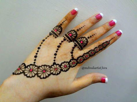 Mehndi For Thumb : Henna mehndi design for back hand designs