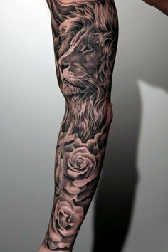 Tatouage Bras Homme Lion Tatouage Manchette Tatouage Bras Tatouage
