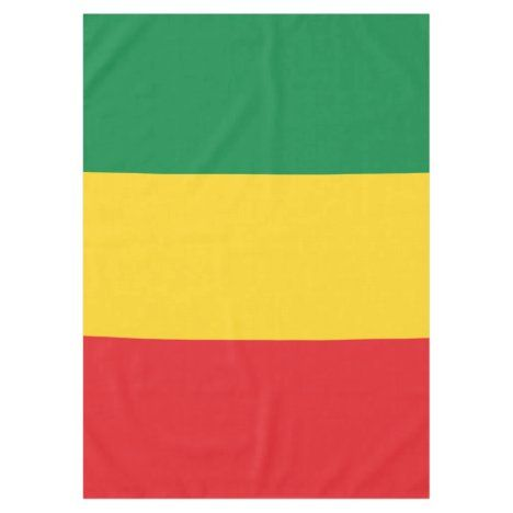 Green Gold Yellow And Red Colors Flag Tablecloth Zazzle Com In 2020 Red Color Green And Gold Vibrant Colors