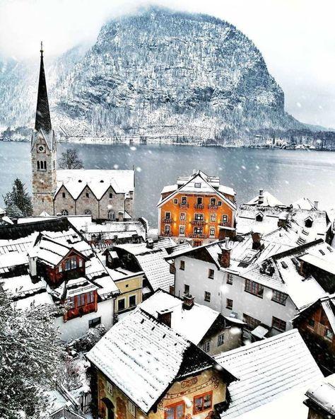 Winter in Hallstatt, Austria Cool Places To Visit, Places To Travel, Places To Go, Austria Winter, Hallstatt, Austria Travel, Voyage Europe, Travel Aesthetic, Belle Photo