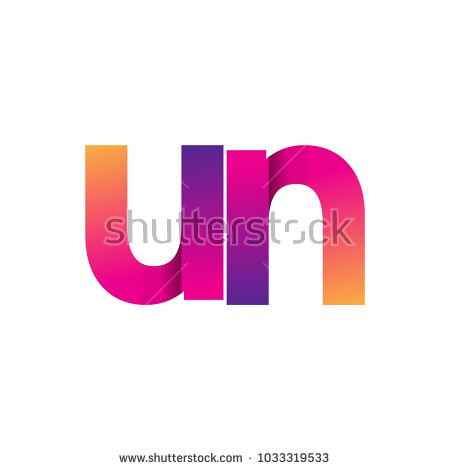 Initial Letter Un Logo Lowercase Magenta And Orange Modern