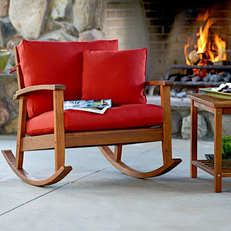 Eucalyptus Outdoor Deep Seat Rocker Outdoor Furniture Material Best Outdoor Furniture Deck Furniture