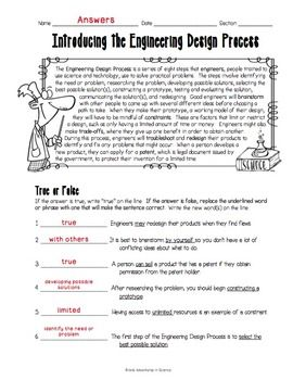 Introducing The Engineering Design Process Worksheet Scientific Method Worksheet Scientific Method Lesson Scientific Method