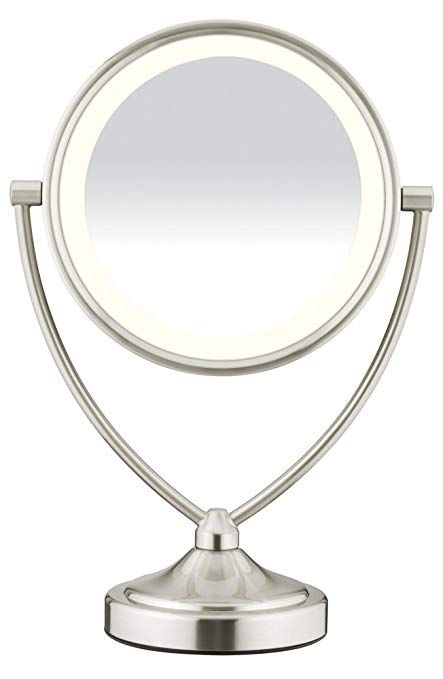 Conair Natural Daylight Double Sided Lighted Makeup Mirror Lighted Vanity Makeup Mirror 1x 10x Magnifi Makeup Mirror With Lights Makeup Mirror Makeup Vanity