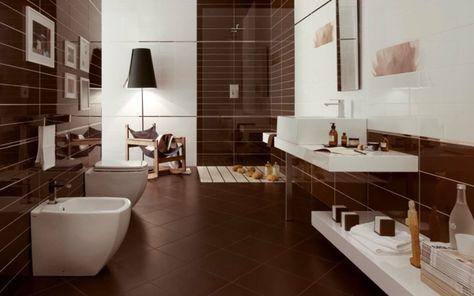 Moderne Badezimmer Fliesen 25 Ideen Fr Badgestaltung In Bezug Auf Badezimmer  Braune Fliesen