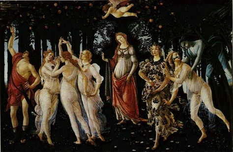 Glossy Canvas Paper A4 or A3 AMONGST THE FLOWERS by Sandro Botticelli Matt