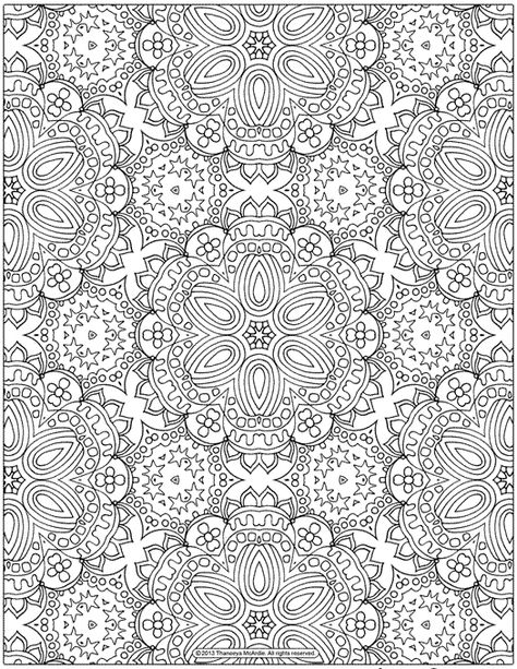 Free Abstract Patterns Coloring Page For Grown Ups Fonts