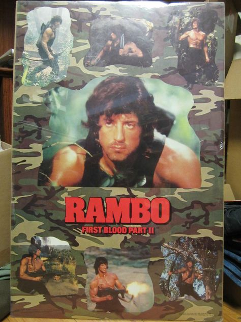 Vintage 1985 Movie poster Rambo first blood part II 10537